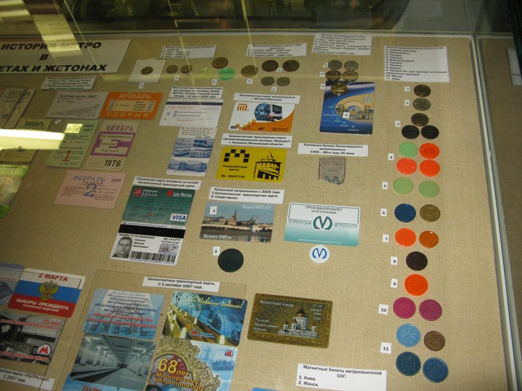 История метро в монетах и жетонах