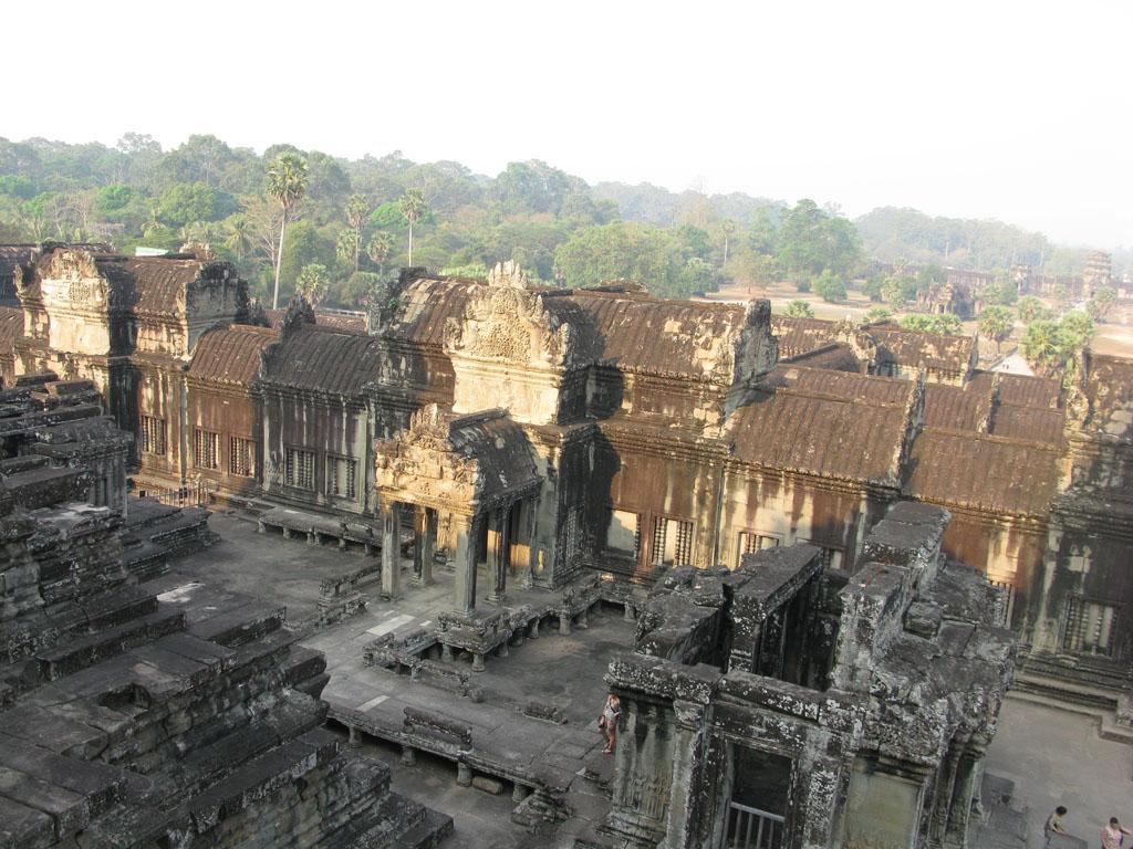Вид с самой высокой точки Ангкор Вата