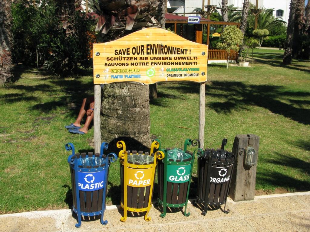 Экологические мусорки в Тунисе
